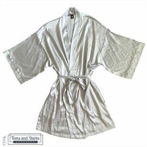 Victoria Secret Silver Silk Robe